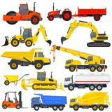 Industrial Transportation. Vector illustration of industrial transportation machine Stock Photography