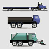 Industrial transportation freight trucks Royalty Free Stock Photos