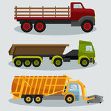 Industrial transportation freight trucks Royalty Free Stock Image