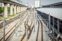 Industrial transportation of railway system Royalty Free Stock Photography