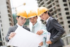 Industrial trio Stock Photography