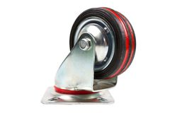 Industrial trolley single Swivel Rubber Caster Wheels. Industrial trolley single Swivel Rubber Caster Wheels with Top Plate not fixed and break .wheel have stock photography