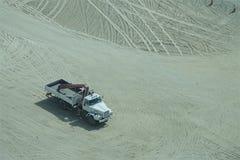 Truck in a desert stock image