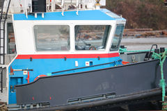 Industrial Tug Boat Cabin Royalty Free Stock Photos