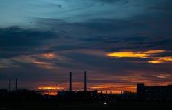 Industrial Twilight Stock Image