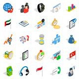 Industrial tycoon icons set, isometric style. Industrial tycoon icons set. Isometric set of 25 industrial tycoon vector icons for web isolated on white Stock Image