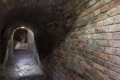 Industrial underground in Poland. Old cellar. Stock Photography