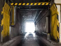 Industrial underpass Royalty Free Stock Photography