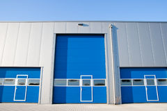Industrial Unit. With roller shutter doors Royalty Free Stock Photos