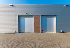 Industrial unit. With two roller doors Royalty Free Stock Photography