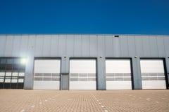 Industrial unit shutter door Stock Photography