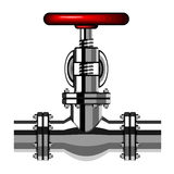 Industrial valve chrome red Royalty Free Stock Images