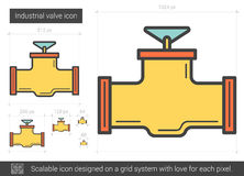 Industrial valve line icon. Royalty Free Stock Image