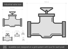 Industrial valve line icon. Industrial valve vector line icon isolated on white background. Industrial valve line icon for infographic, website or app. Scalable Royalty Free Stock Image