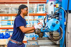 Industrial Valve Manufacturing and Assembly Factory royalty free stock images