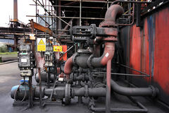 Industrial valve and pipework. Royalty Free Stock Photo