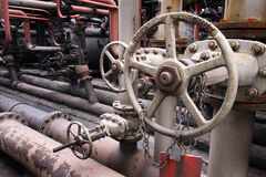 Industrial valve and pipework. Stock Photos