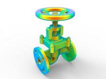 Industrial valve - rainbow colors Royalty Free Stock Photos