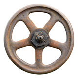 Industrial Valve Wheel And Stem, Weathered Grunge Latch Macro Royalty Free Stock Images