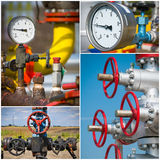 Industrial valves collage Royalty Free Stock Image