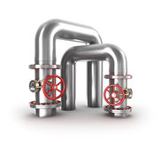 Industrial valves and pipes Royalty Free Stock Photo