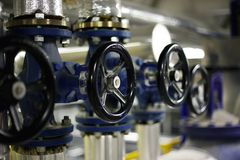 Industrial valves Stock Image