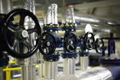 Industrial valves Stock Photos