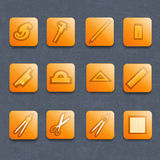 Industrial vector icon set Stock Photo