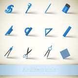 Industrial vector icon set Stock Photography
