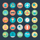 Industrial Vector Icons 2 Royalty Free Stock Photos