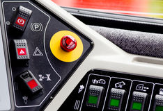 Industrial vehicle dashboard Royalty Free Stock Photography