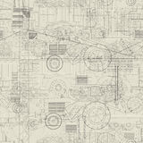 Industrial vehicles pattern Stock Photo