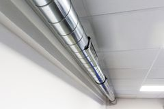 Vent and air ducts for air conditioning system. Industrial: vent and air ducts for air conditioning system Stock Photos