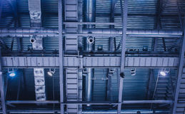 Industrial ventilation and air conditioning royalty free stock photos