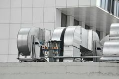 Industrial ventilation system Stock Image