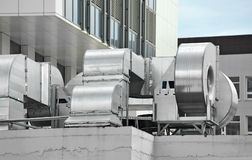 Industrial ventilation system Stock Images