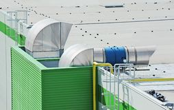 Industrial ventilation system Stock Photography
