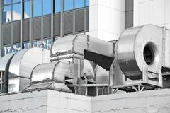 Industrial ventilation system Royalty Free Stock Images