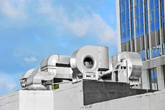 Industrial ventilation system Royalty Free Stock Image