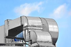 Industrial ventilation system Stock Image