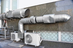 Industrial ventilation system Royalty Free Stock Photos