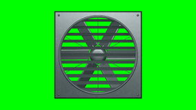 Industrial ventilator looped on green screen 3d illustration render stock video footage