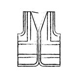 Industrial vest wear. Icon  illustration graphic design Royalty Free Stock Image