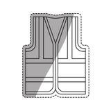 Industrial vest wear. Icon  illustration graphic design Stock Image