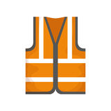 Industrial vest wear. Icon  illustration graphic design Royalty Free Stock Photography
