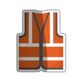 Industrial vest wear. Icon  illustration graphic design Stock Images