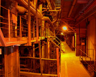 Industrial view. Power plant Stock Photos