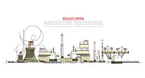 Industrial view, Environmental concept Royalty Free Stock Image