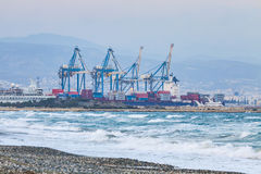 Industrial View Of Sea Port Of Limassol, Cyprus