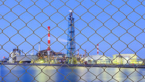Industrial view of Petrochemical industrial plant Stock Photography